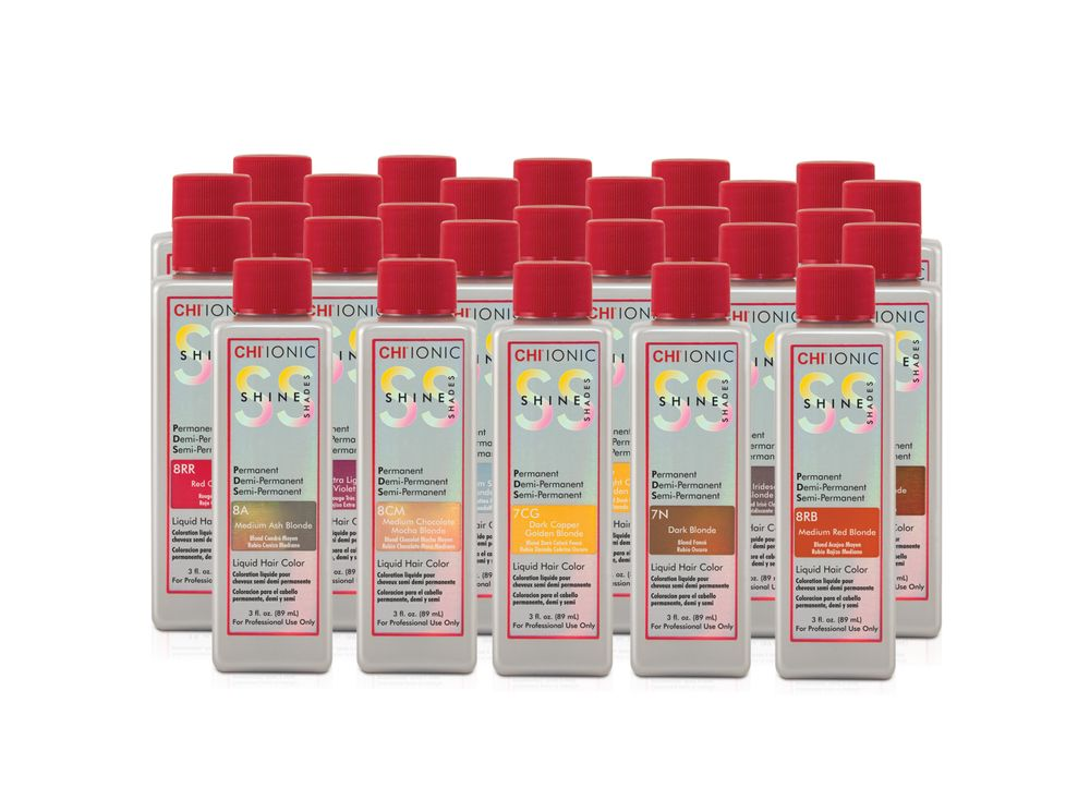 <strong>2015: </strong>Farouk Systems launches ammonia-free and ppd free liquid color called<strong> CHI Shine Shades</strong>, once again providing a safer solution for hairdressers and their clients.