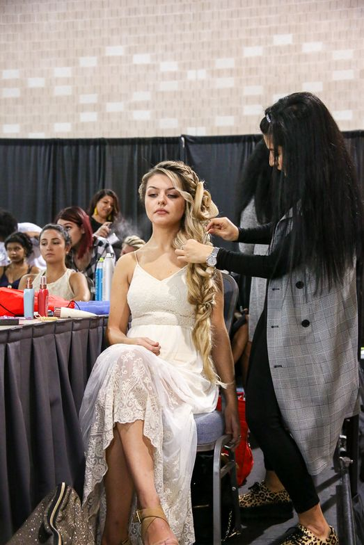 There was a competition area for Bridal, Updos and Braids, as well as Barbering and Women's Cut and Color at Premiere Philadelphia.