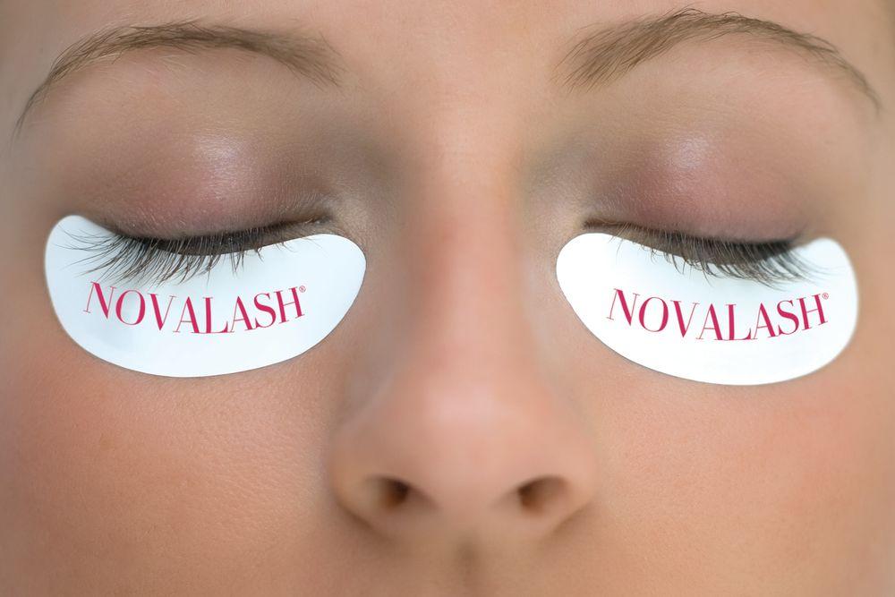 STEP 1: Apply the NovaLash under-eye stickers.