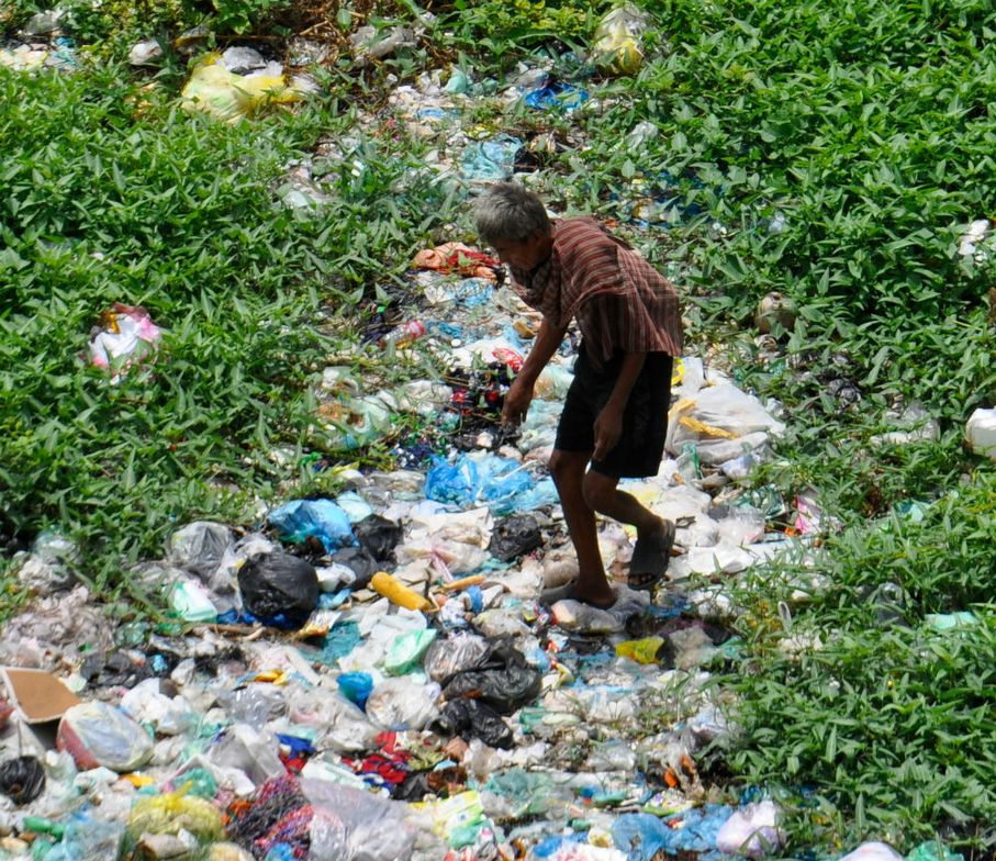 Extreme poverty causes many to scrounge through garbage for food and items to sell.