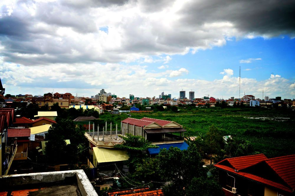 The view from the roof of one of our partners, Transitions, where rescued girls are taught to cook and speak English.