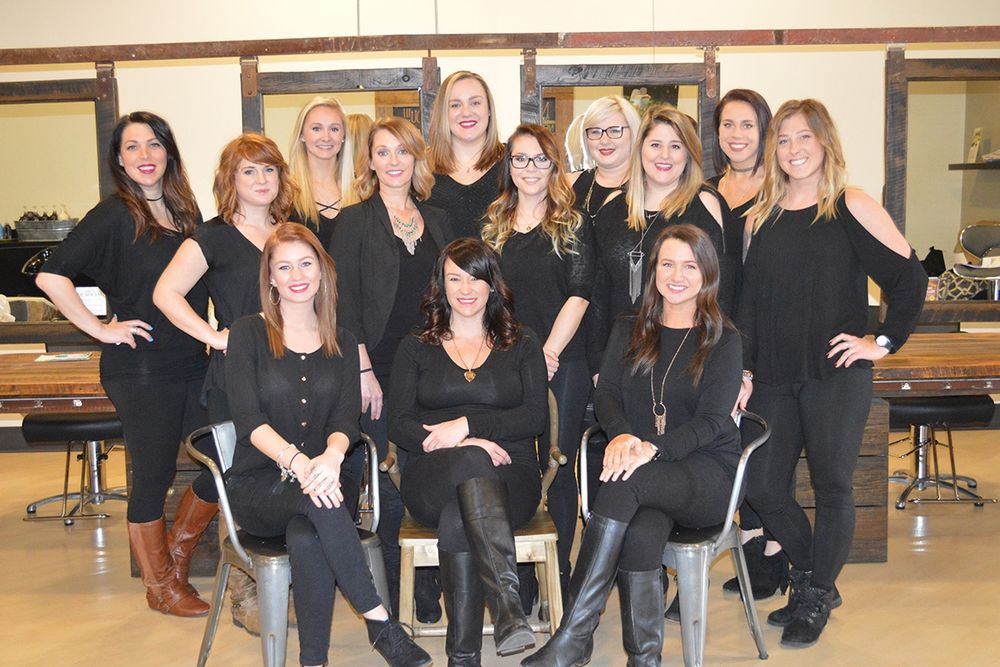 The team from Canvas Salon in Powell, OH.