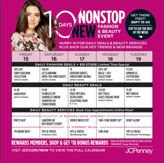 As an answer to New York Fashion Week, the 10 Days of NonStop New event helped JCPenney cross promote hair, beauty and fashion.