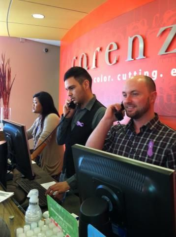 At Carenza Color Cutting Experience, front desk began receiving donations over the phone!