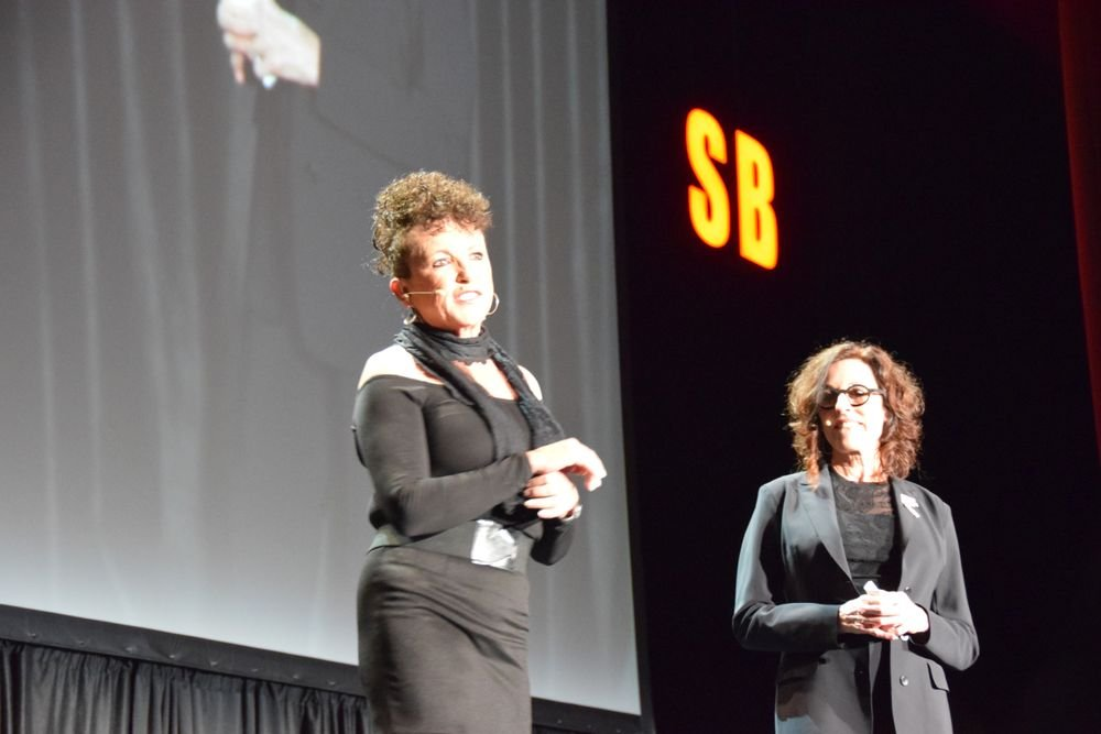 <p>Carol Augusto and Debra Neill Baker preview the lineup of Serious Business speakers.</p>