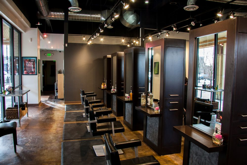 An interior shot from Centre Salon in Westminster, CO.