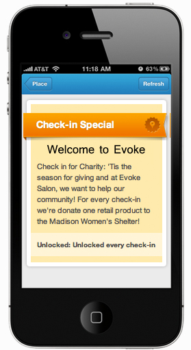 Online For The Holidays: Foursquare Check-In For Charity