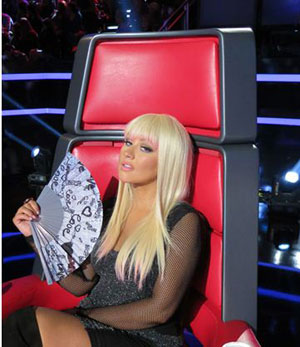 David Babaii Styles Christina Aguilera for The Voice