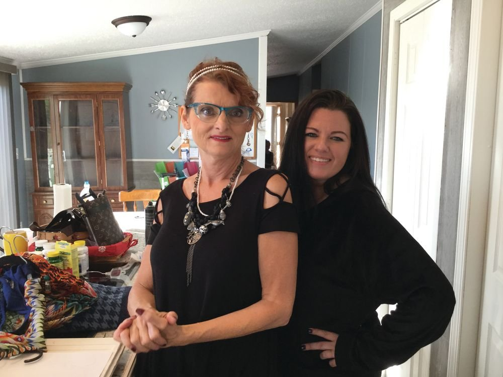 <p>Cindy Crowe-Layne &amp; Evelyn at the House of Grace Recovery for Women</p>