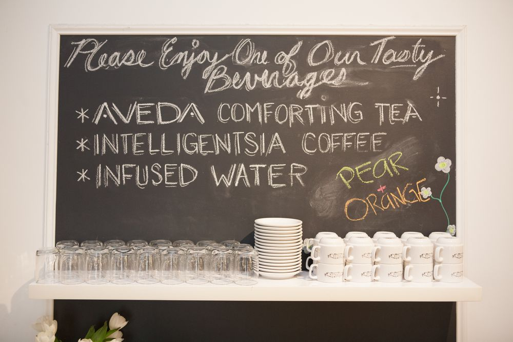 "NORTH AVE.—The salons' daily mix of complimentary beverages make clients feel welcome and warm—even during frigid Chicago winters. ""We want to create spaces that inspire feelings of well-being and relaxation while also providing a special environment for guests to feel at home,"" Civello says."