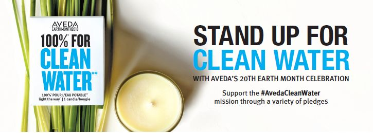 By taking part in a variety of earth-conscious actions through the pledge, from skipping hair washes and going dry to save water, to purchasing Aveda's Light the Way Candle to benefit clean water projects around the globe, participants in Earth Month will help to continue Aveda's tradition of environmental and clean water efforts. aveda