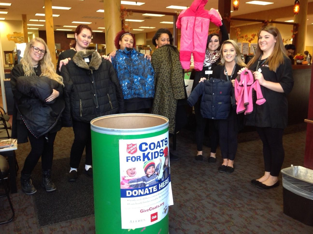 Minnesota School of Cosmetology (MSC) Collects Coats for Kids