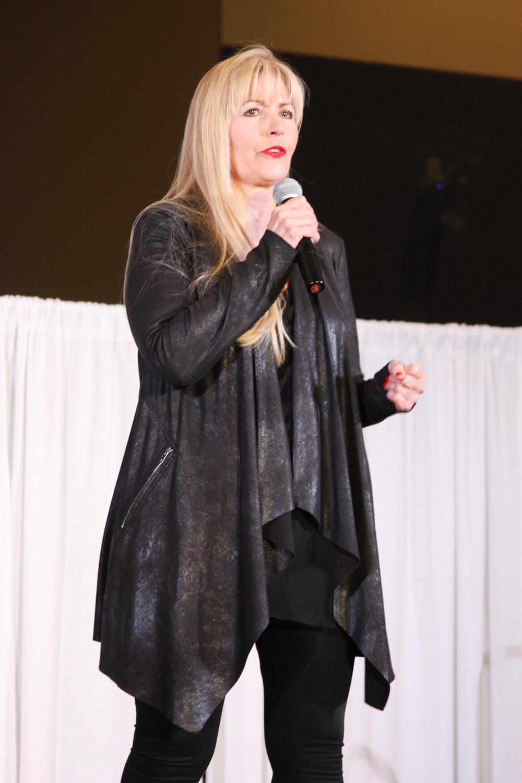 MODERN's Maggie Mulhern on stage.