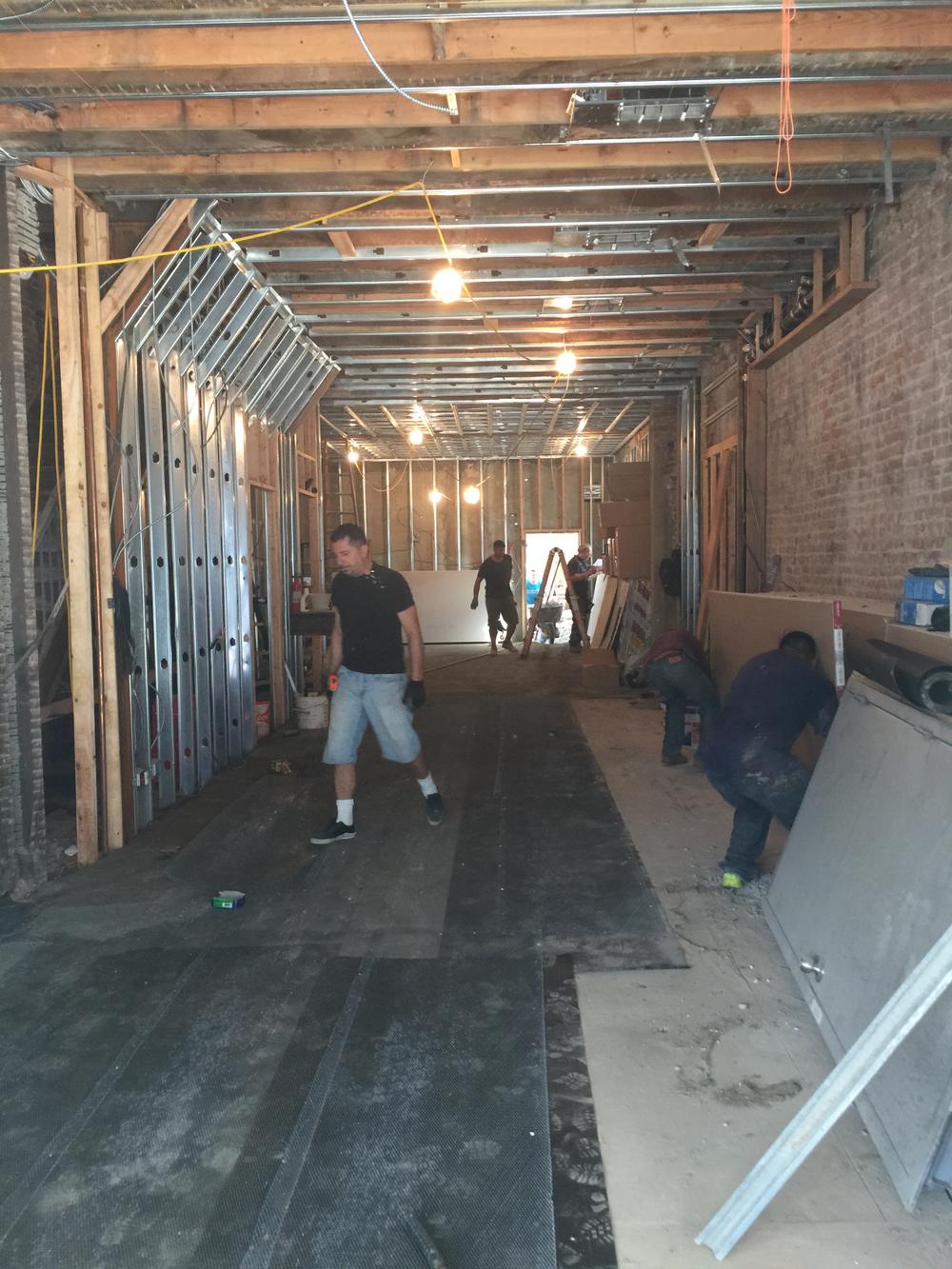 Construction begins on Hair & Co BKLYN.
