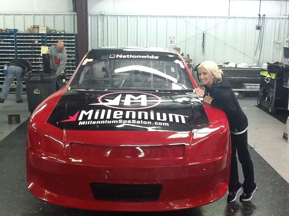 One of the twins with their Millennium car #23.