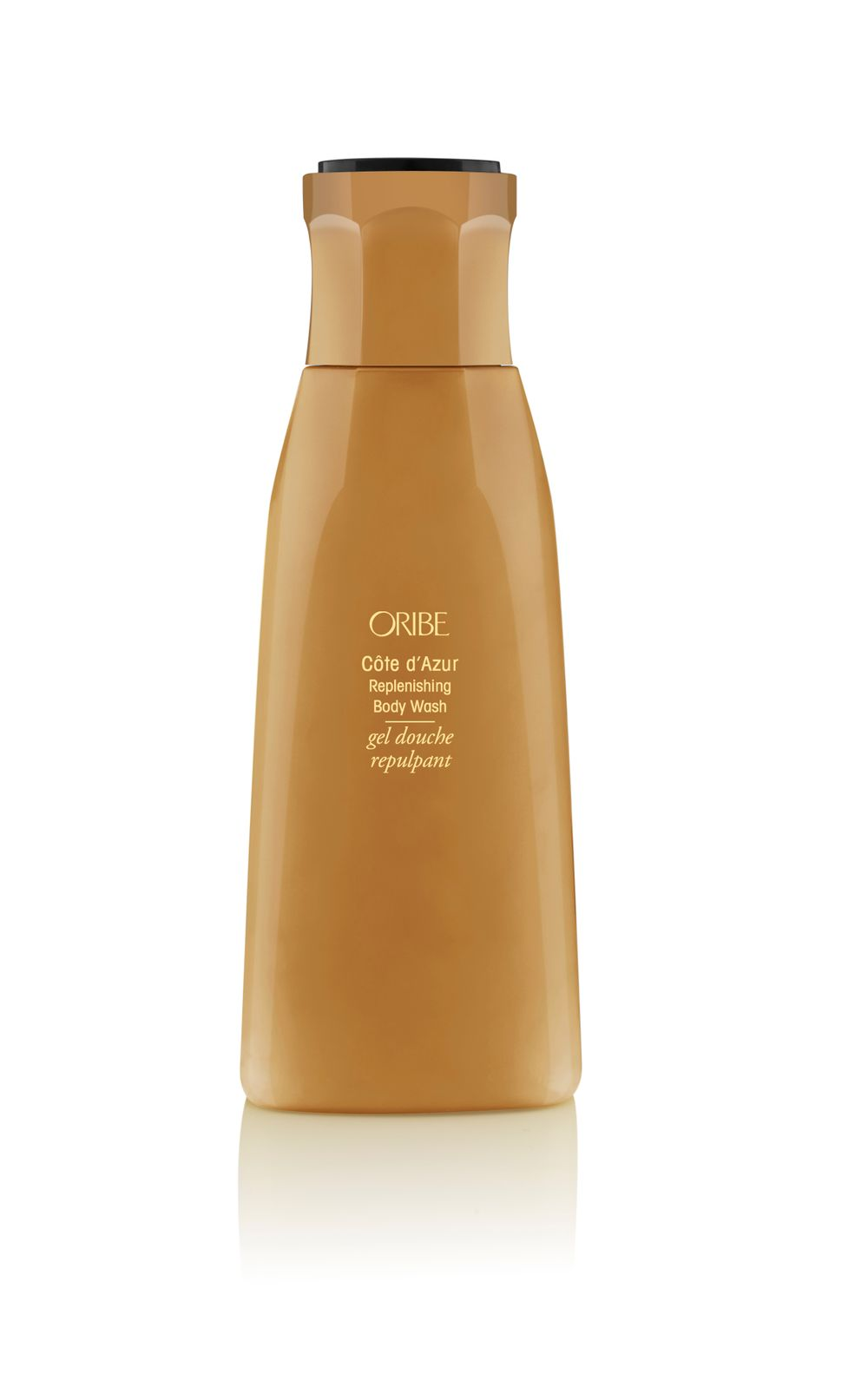 Cote d'Azur Replenishing Body Wash: Infused with Oribe's signature scent, leaves skin silky and moisturized with a blend of sweet almond, meadowfoam and starflow oils, amber extract, passionflower oil and more.