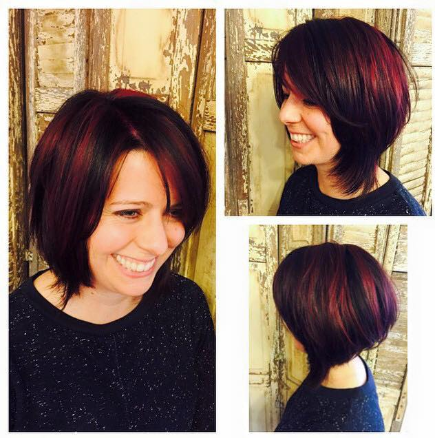 2 Formulas for Dimensional Cranberry-Dark Chocolate Haircolor