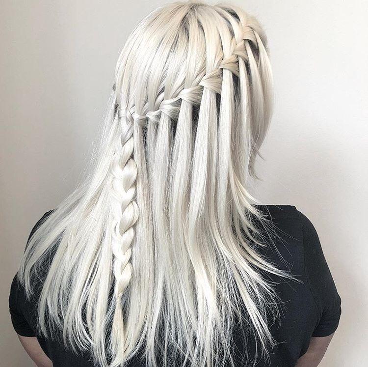 This waterfall braid is stunning!
