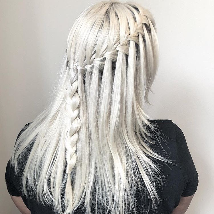 This waterfall braid is stunning!