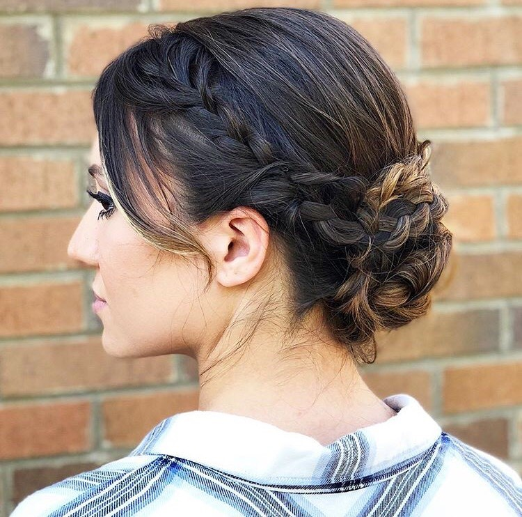 This braided updo is perfect for a bride!