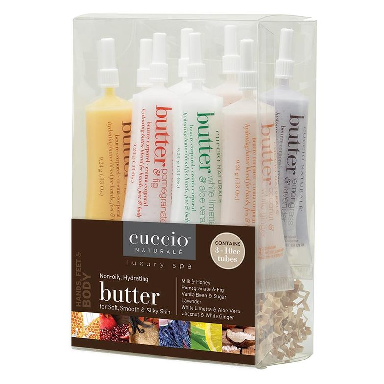 """""""Drop a Butter Blend into an organza bag with a piece of candy as a gift to every client. At under 75 cents each, this give you an easy way to delight clients with high-quality products."""" -Patricia Freund, Cuccio Naturale"""