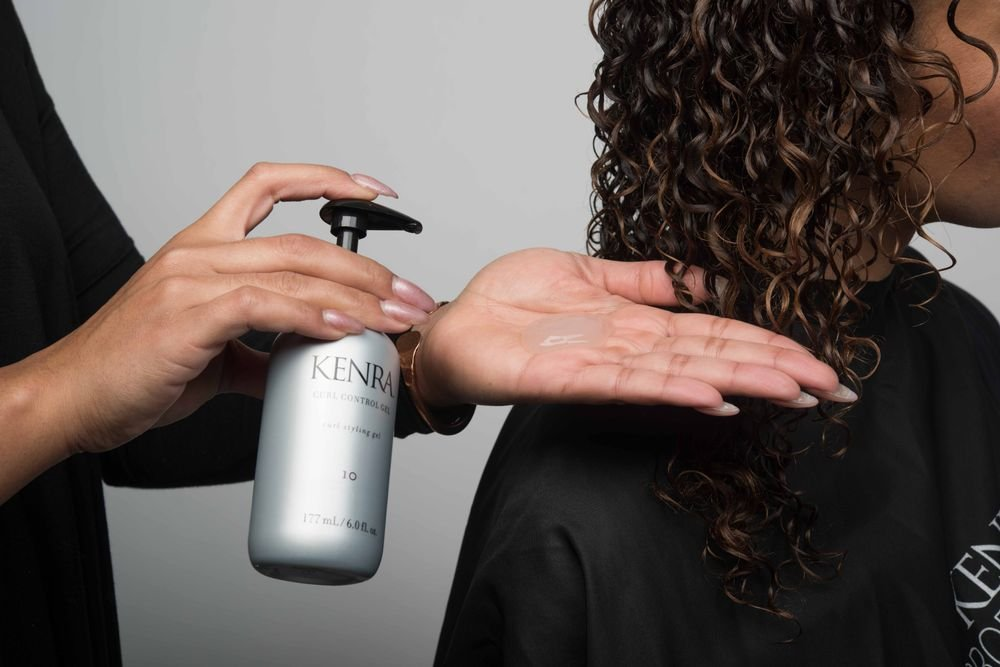 STEP 2: On wet hair, apply 1-3 pumps of Curl Control Gel 10 as needed to even saturation.