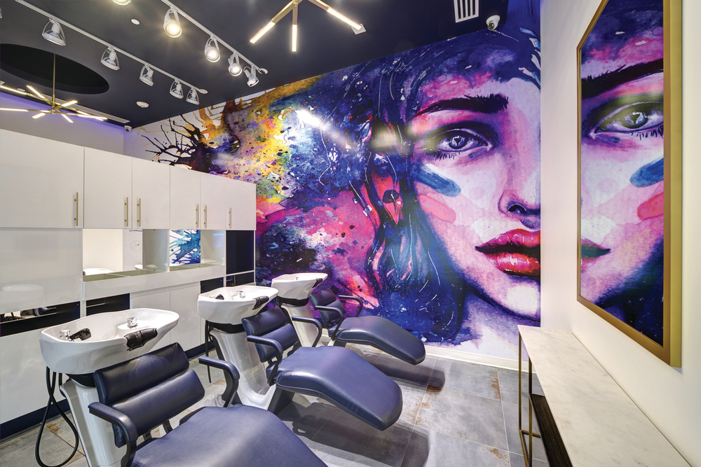 Another focal point inside Current Salon and Color Bar by Nese in Ashburn, Virginia