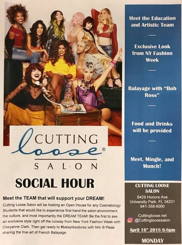 The salon produced this flier to share with local cosmetology students and instructors.