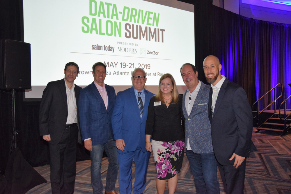 Data-Driven Salon Summit Organizers and Emcees: Modern Salon Media's Steve Reiss, ZeeZor's Chris Nedza, Salon Visage's Frank Gambuzza, Salon Today's Stacey Soble, Gene Juarez's Scott Missad and ZeeZor's Alan Dandar.