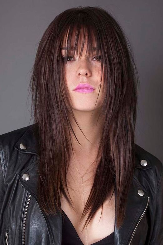 <strong>Edgy Shag with Textured Long Layers </strong>