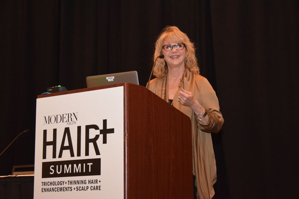 Sheila Wilson points out you have to keep in mind the condition, cut and color of your client's hair to enhance thinning hair.