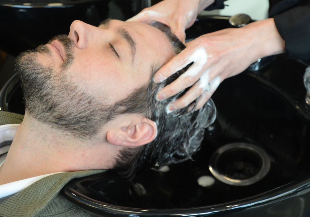 Male clients can benefit from scalp treatments to allevaite dandruff, dry scalp, acne and irritation.