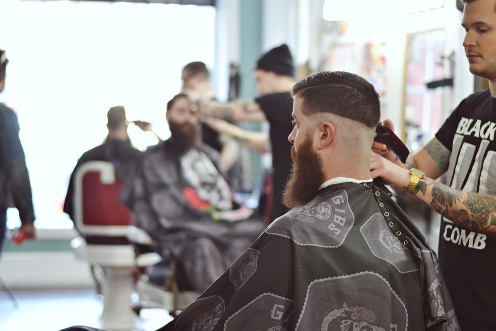 "Barber Shop<br /><br /><a href=""http://www.blackcombbarbers.com"">www.blackcombbarbers.com</a>"