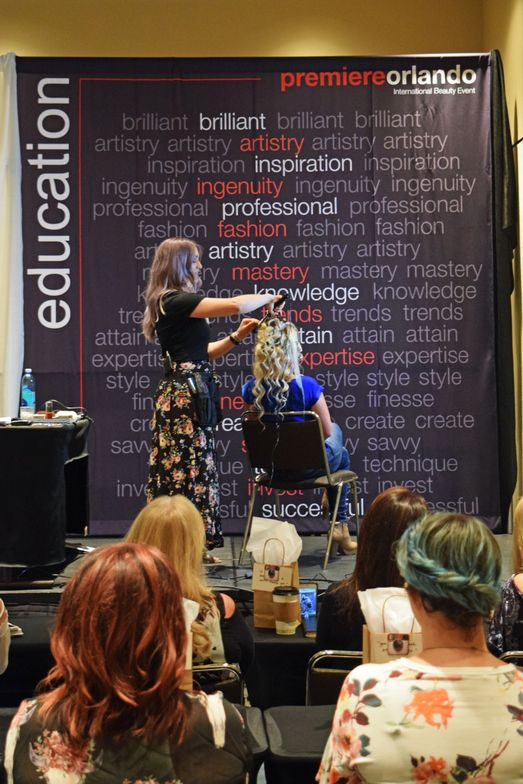 <strong>Heidi Marie Garrett</strong> (@heidimariegarrett) dishes out tips and tricks for bridal styles during her workshop.