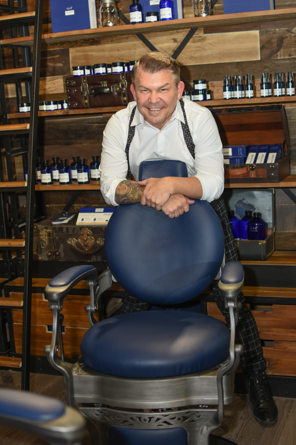 Tim Timmons, owner of Salon Gloss and the 1922 Men's Grooming Salon in Woodstock, Georgia.