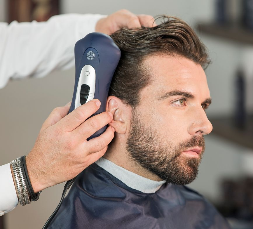 <p>STEP 10: Finish styling/drying hair with The Esquire Brush Dryer.</p> <p></p>