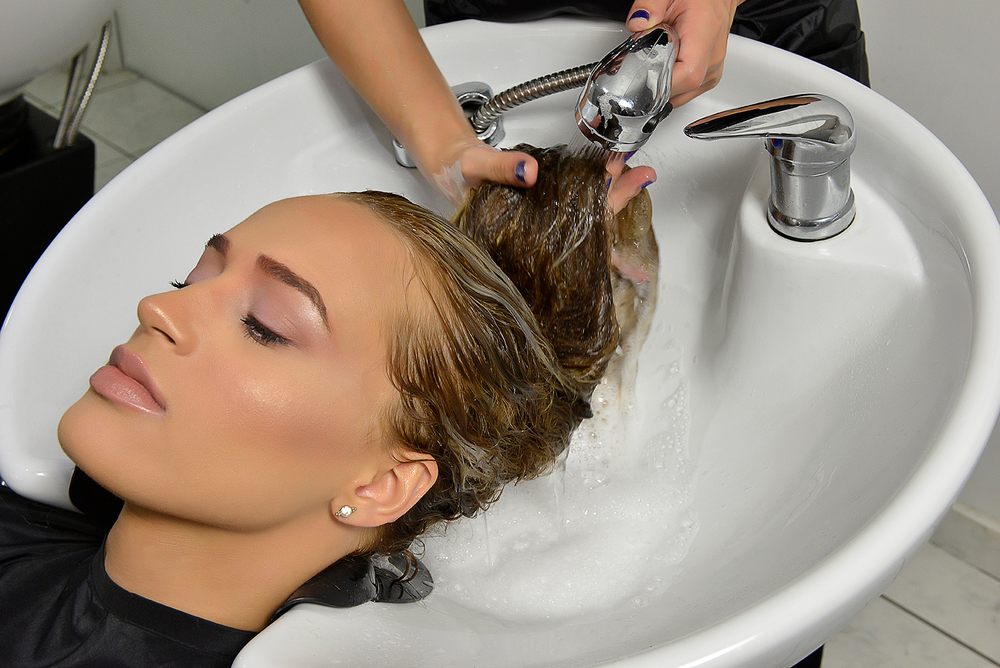 Rinse and towel dry the hair.