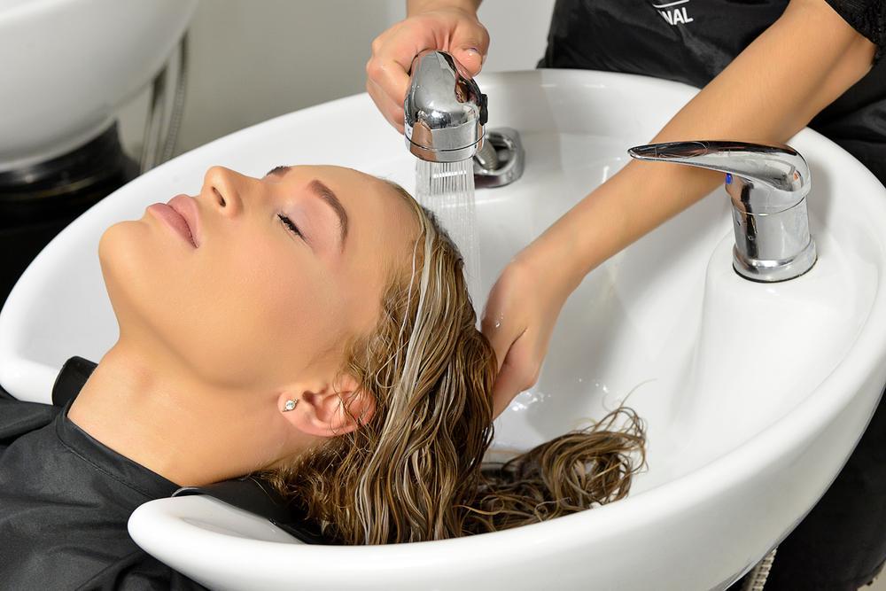 Wash hair with GKhair PH+ Shampoo.