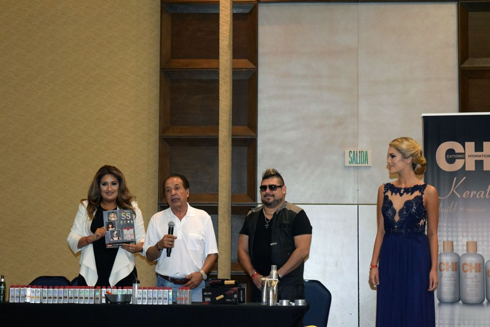 Farouk artists Anna Cantu and Joe Anthony present new launches with Farouk Shami at a VIP press luncheon, Sept. 20, 2015.