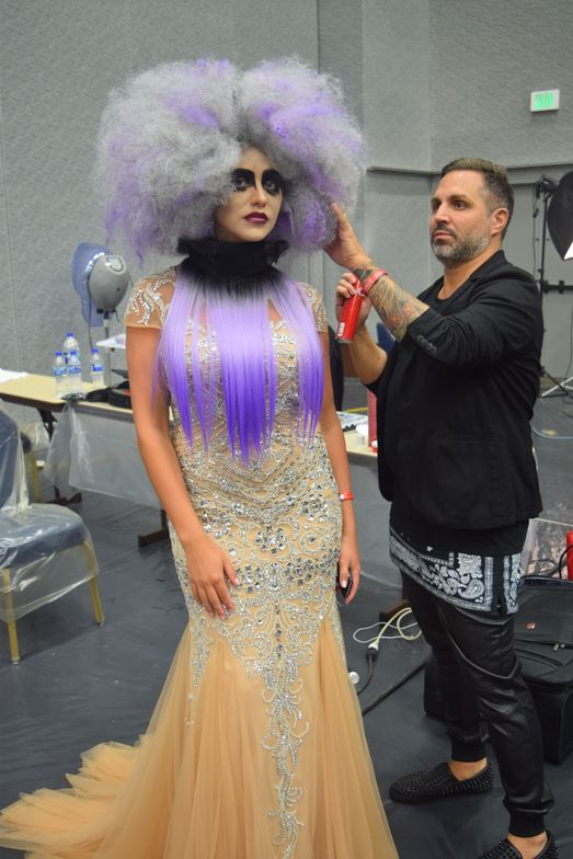 Backstage before the Global Runway Show on Sunday, Sept. 20, 2015.