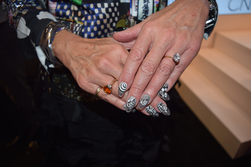 CND's Jan Arnold shows us her manicure, created using stencils, jewels and, of course, CND polish.
