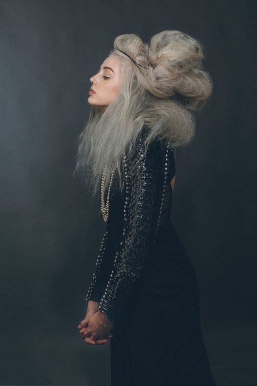 <strong>An interpretation of Daenerys Targaryen, House Targaryen.</strong>Color used: Shades by Redken. 1b (Onyx) and highlights are 9b (Sterling).