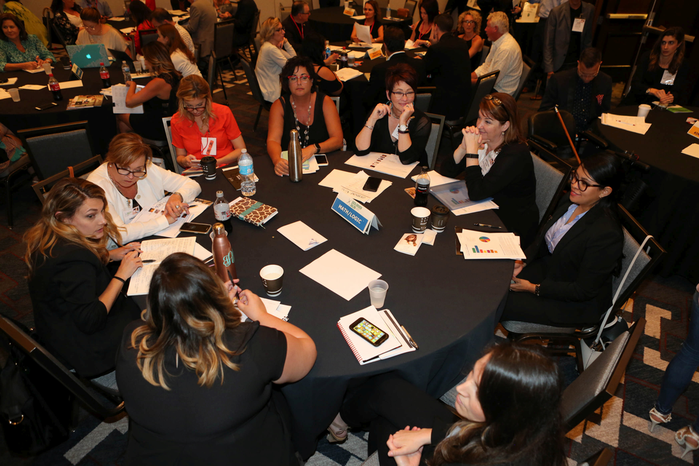 Attendees compare notes during about their different personality types.