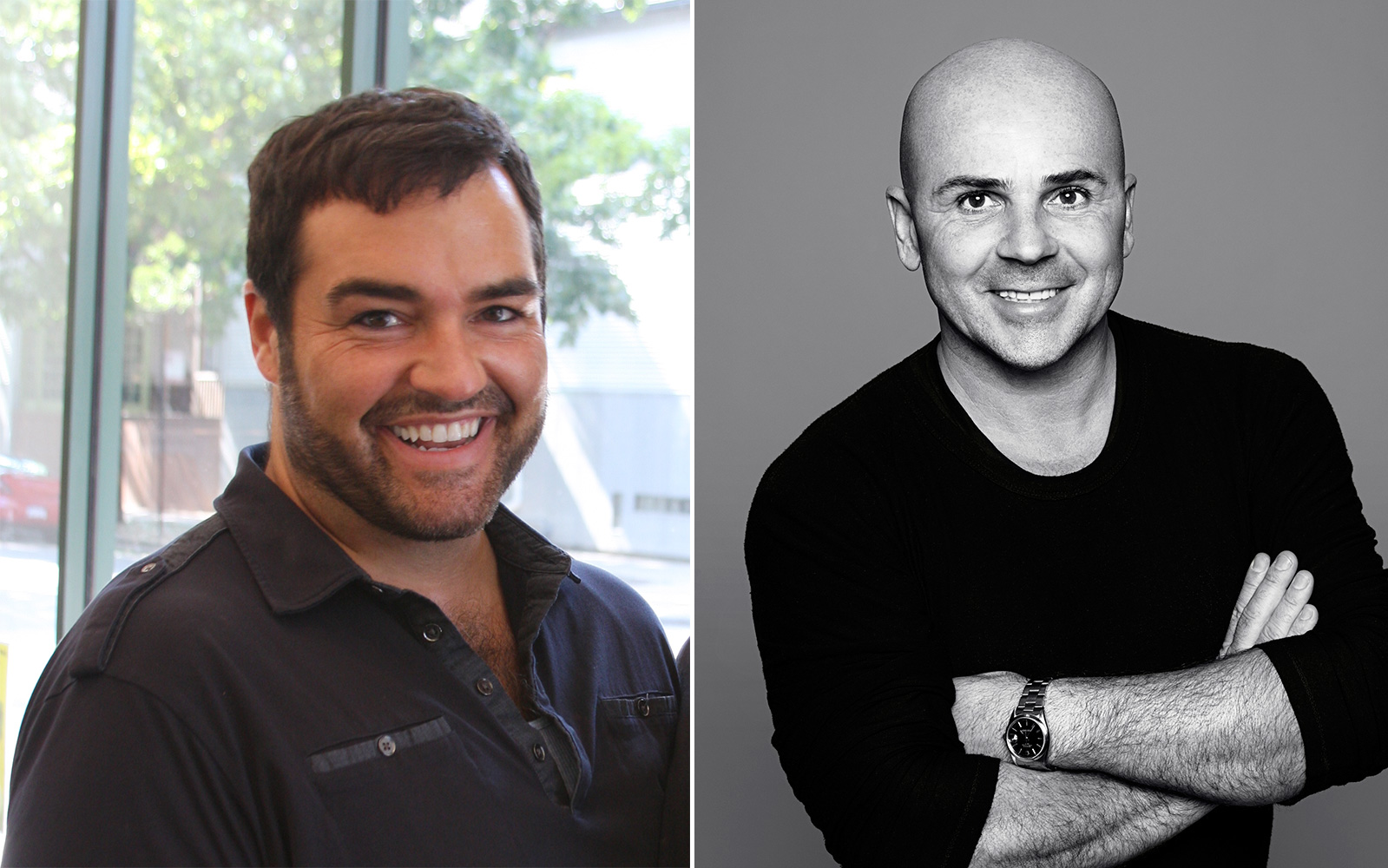Celebrity Stylists Dean Banowetz (left) and Giannandrea (right)