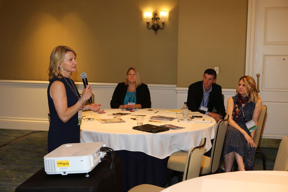 Debra Penzone leads a breakout session on 'Revolutionary First Impression Tactics.'