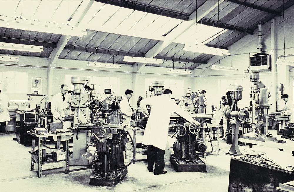 <p></p> <p><em>The early days of Denman manufacturing.</em></p>