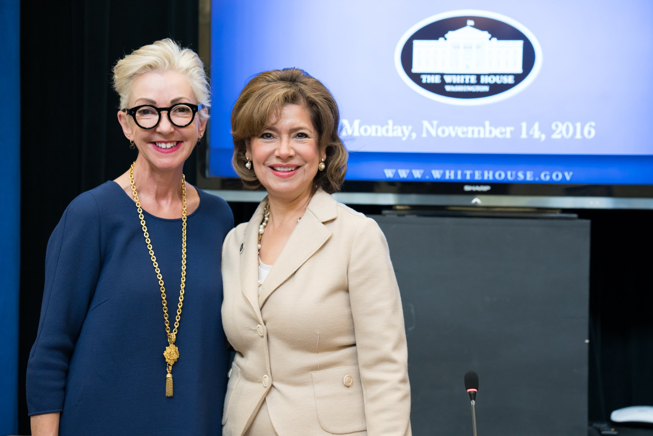 Dermalogica Founder Jane Wurwand and  Administrator of the Small Business Administration, Maria Contreras-Sweet