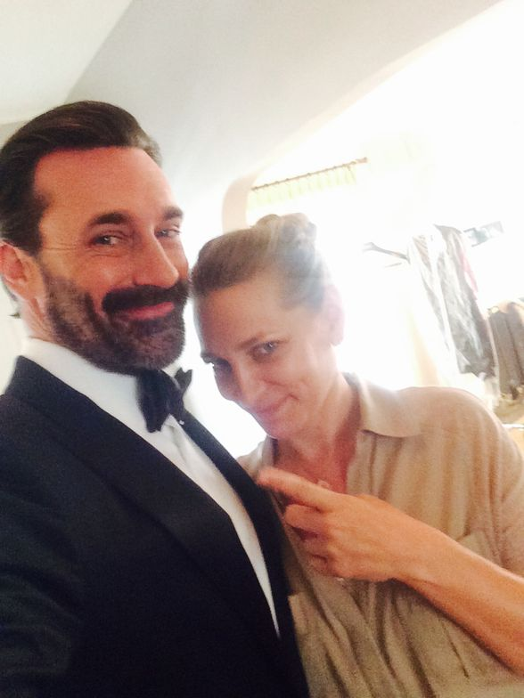 Diana Schmidtke @dianaschmidtke1<br />with the actor Jon Hamm