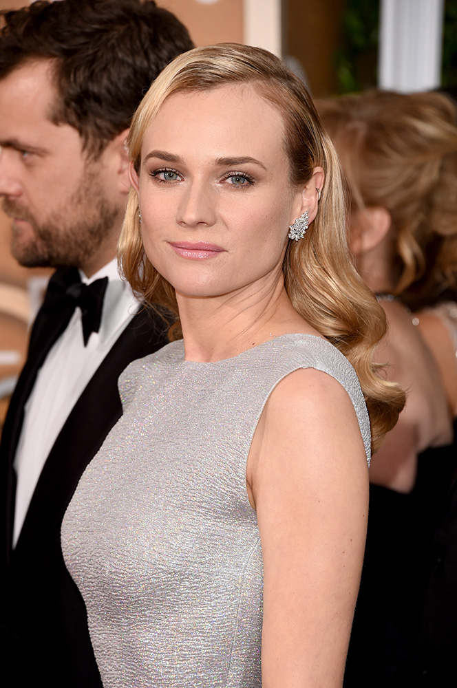 2015 Golden Globes How-To: Diane Kruger by Jen Atkin for Moroccanoil