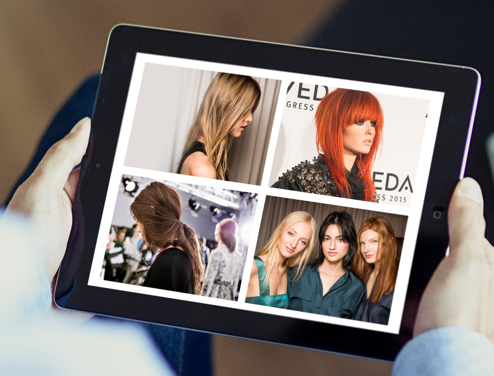 Although Van Council and Gregg Colbert insist all stylists create leather-bound portfolios, they acknowledge that iPad portfolios can help tech-savvy team members.